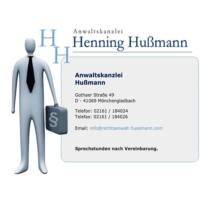 Rechtsanwalt Henning Hußmann