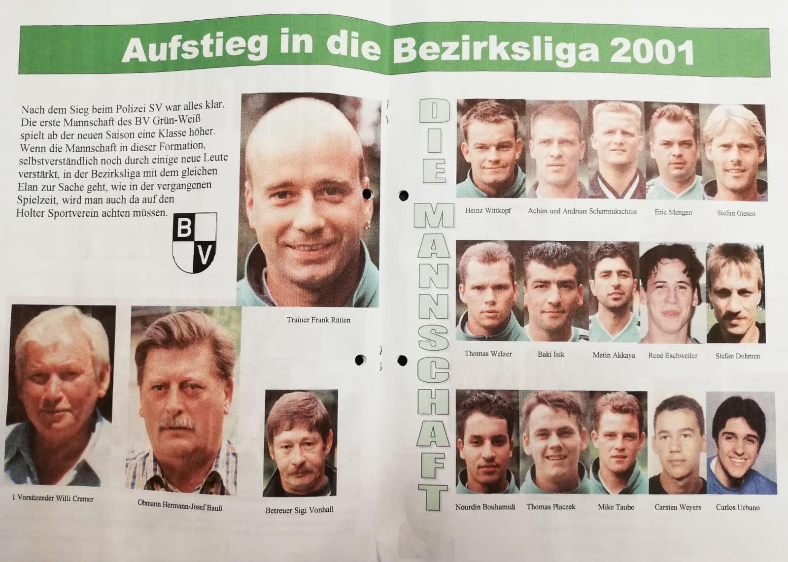 Aufstieg 2001